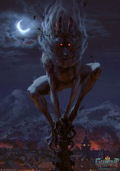 View an image titled 'Aguara: True Form Art' in our Gwent: The Witcher Card Game art gallery featuring official character designs, concept art, and promo pictures. Fantasy Kunst, Dark Fantasy Art, Fantasy Artwork, Final Fantasy, Creature Concept Art, Creature Design, Witcher Monsters, Illustration Fantasy, Witcher Art