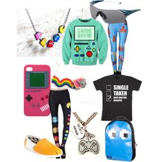 Gamer girl, I want this outfit xD  Hahaha!!! I love that shirt!! It says single, taken, nah... I'm busy hunting dragons