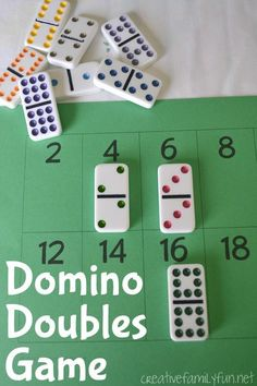 Help your kids have fun while learning their doubles math facts with this Domino Doubles Game from Creative Family Fun