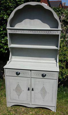 Priory Ercol - style Oak Welsh Dresser Annie Sloan Parisian Grey | Chepstow, Monmouthshire | Gumtree