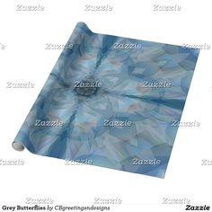 Grey Butterflies Wrapping Paper