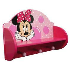 Disney Minnie Mouse Wooden Coat Rack & Shelf