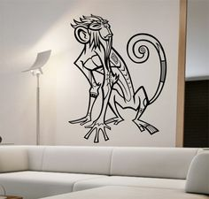 Monkey Chinese Zodiac Vinyl Wall Decal Sticker Art Decor Bedroom Design Mural cute animal lover interior design chinese new year