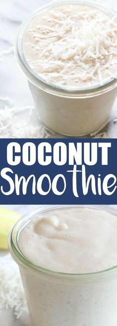 This smoothie is loaded with coconut flavor! Made with coconut… Coconut Smoothie. This smoothie is loaded with coconut flavor! Made with coconut milk and other natural ingredients, this is guaranteed the best way to start the day! Smoothie Fruit, Coconut Smoothie, Smoothie Drinks, Healthy Smoothies, Healthy Drinks, Smoothies With Coconut Milk, Coconut Milk Drink, Best Smoothie Recipes, Coconut Recipes Healthy