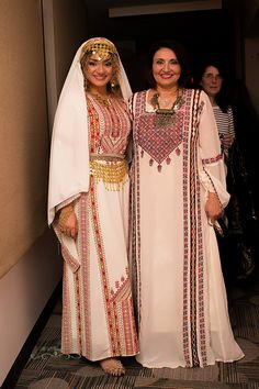 My niece Lima and I in an event that has more far-reaching goal in the promotion of Palestinian culture and history while bridging different communities in Central and Western Canada Afghan Clothes, Afghan Dresses, South African Traditional Dresses, Traditional Outfits, Modest Dresses, Bridal Dresses, Palestinian Wedding, Balochi Dress, Palestinian Embroidery