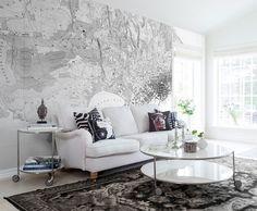 Wereldkaart als behang REBEL WALLS. www.rebelwalls.nl | wallpaper | muurdecoratie | wandbekleding | interieur | interior | styling | design | inspiratie | wonen | woonkamer
