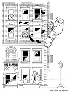 Ralph destroys everything he touches. It's a lonely job, but wrecking Niceland is what Ralph does best! Enjoy this awesome printable coloring page!