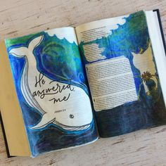 The deep enveloped me; seaweed wrapped around my head. The first reading for today is Jonah but my imagination was… Bible Study Journal, Journal Quotes, Scripture Study, Scripture Quotes, Bible Verses, Art Journaling, Niv Bible, Bible Prayers, Bible Art