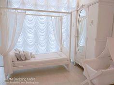 Madeline cama con Baldaquino Ropero Shabby White White catre Tijera