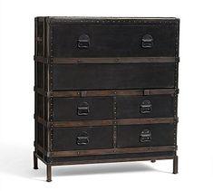Ludlow Trunk Secretary Desk @PotteryBarn #HomeOffice #Bedrooms #GuestRooms