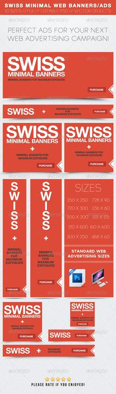 Web Elements - Swiss Minimal Web Banners/Ads | GraphicRiver