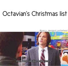 Well, except for the fact that Sam's a teddy-bear-doctor and Octavian's more along the lines of teddy-bear-serial-killer