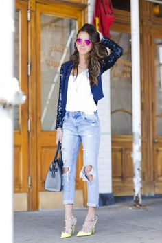 Cute jeans, sunnies, and jacket