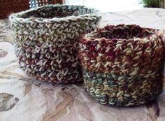 Crocheted BasketMedium size this basket was by tracyleeilg1318
