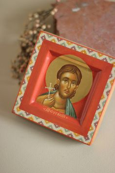 Orthodox Icons, Frame, Painting, Home Decor, Miniatures, Picture Frame, Decoration Home, Room Decor, Painting Art