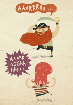 Pirates character design illustration by Duncan Beedie