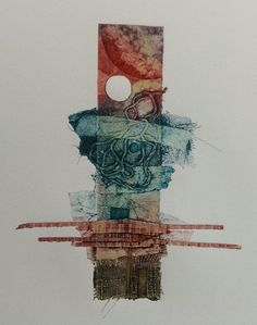 """""""Totem"""" - Hand Inked Collagraph Print by Sarah Ross-Thompson Colorful Drawings, Art Drawings, Collagraph Printmaking, Collage Techniques, Textile Fiber Art, Elements Of Art, Gravure, Sculpture, Abstract Art"""