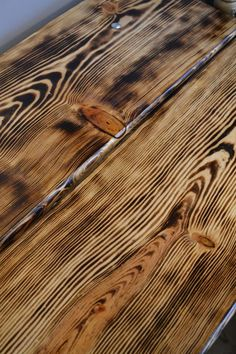 Torch your wood projects to make the grain really pop!