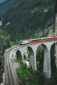 Landwasser viaduct - Places to go in Bergün, Switzerland. Read more on our Travel & Photography Blog!
