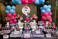 Ideias de decoração de festa Monster High: tudo em rosa e azul! Lindo!