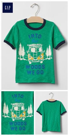 Glow-in-the-dark camp graphic tee