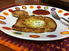 Egg in a basket #food #breakfast