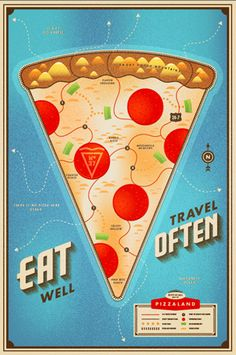Eat Well, Travel Often // Illustration Chris Rushing Postcard Design, Postcard Art, Creative Illustration, Graphic Design Inspiration, Eating Well, Design Art, Print Design, Design Ideas, Wells