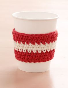 Barista Cup Cozy Set - just made one of these from scraps - pretty easy.