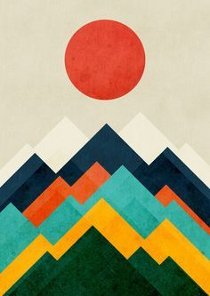 color palette.  love. mountains.