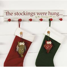 The Stockings Were Hung... Wooden Stocking Holder