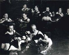 Tea party. English spa, 1940