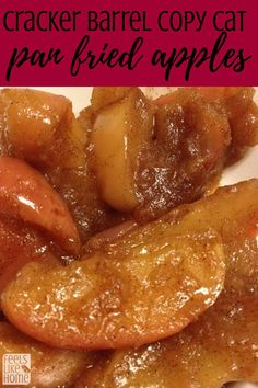 Simple and easy pan fried apples - This southern recipe uses cinnamon, butter, a. - Simple and easy pan fried apples – This southern recipe uses cinnamon, butter, and brown sugar to - Fried Apples Recipe Easy, Recipe Using Apples, Apple Recipes Easy, Apple Dessert Recipes, Fruit Recipes, Fall Recipes, Cooking Recipes, Easy Baked Apples, Deserts