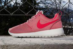Women\u0026#39;s Nike Roshe Run Black-White-Volt Running Shoes - $79.99