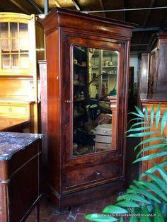 Mobili antichi - Armadi  Piccolo armadio francese - Armadio libreria ad un anta Immagine n°1