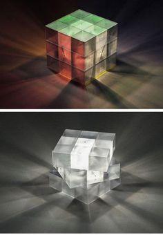 10 COOLEST Creative Rubiks Cubes To Stimulate Your Senses (OMG!) - [http://theendearingdesigner.com/62-unique-rubiks-cubes/]