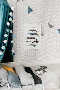 Morski pokój dziecięcy Mikołaja - odsłona #1   BLOG Baby Nap Mats, Toddler Nap Mat, Ocean Themed Nursery, Nursery Themes, Boys Room Decor, Kids Room, Kids Play Teepee, Cotton Mats, Nursery Bunting