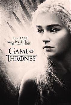 Poster with Daenerys Targaryen