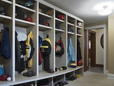 "Don't scrimp on hooks. Hooks are inexpensive and easy additions to your winter gear storage that can make all the difference, especially if you consider all the things you could potentially hang. ""Install hooks for your keys, dog leash, sports equipment and backpacks as well as jackets and scarves,"" says Kiss."