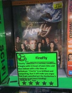 Video store employee's honest review of Firefly - nailed it. #Firefly