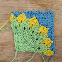 Suvi's Crochet: Quarter Sunflower Square - Back