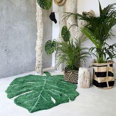 alfombra lavable en forma de hoja Inuk Home
