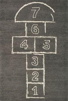 hopscotch rug - I feel like i would play hopscotch all the time if I had this rug in my house!