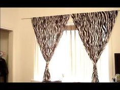 Hang curtains without making holes in the wall.