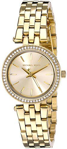 Michael Kors Watches : Michael Kors Womens Darci GoldTone Watch *** Details can be found by clicking on the image. - Watches Topia - Watches: Best Lists, Trends & the Latest Styles Cheap Michael Kors, Michael Kors Watch, Casual Watches, Watches For Men, Wrist Watches, Authentic Watches, Stainless Steel Bracelet, Fashion Watches, Gold Watch