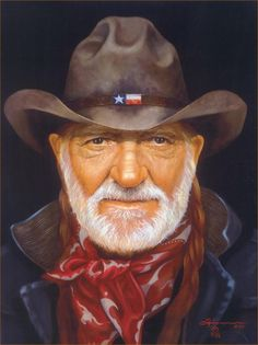 Portrait in Oil - Willie Nelson - Texas Legend - Southwest / Western Art Oil Realism Portrait Painting - Artist Rick Timmons Willie Nelson, Caricatures, Texas Legends, Westerns, Oil Portrait, Portrait Paintings, Portrait Ideas, Artist Pencils, Southwest Art