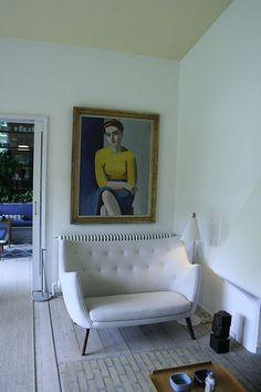 Finn Juhl's poet sofa in his own home::via flickr chrskovgaard