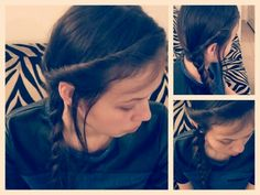 Love the side braided look i made for me friend