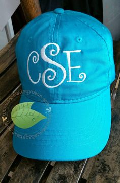 Monogrammed Baseball Caps Unisex by TheScentedSoybeanCo on Etsy