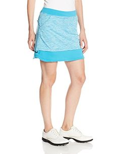 adidas Golf Womens Mixed Media Adjustable Skort Solar BlueWhite Large >>> Want additional info? Click on the image.