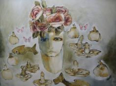 "Saatchi Art is pleased to offer the painting, ""Van goeters en dinge,"" by Alice Pitzer. Original Painting: Oil on Canvas. Art Flowers, Flower Art, Original Paintings, Original Art, Painted Vans, Artwork Online, The Good Place, Saatchi Art, Alice"